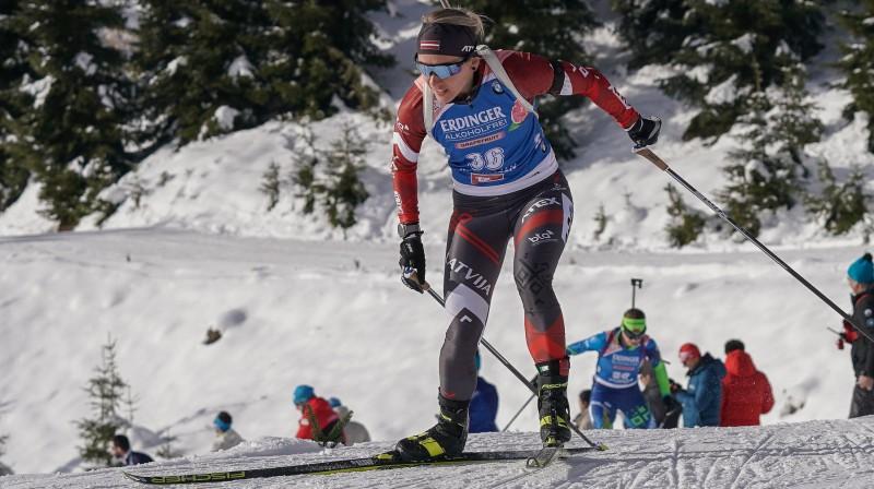 Baiba Bendika. Foto: Latvijas Biatlona federācijas Facebook profils