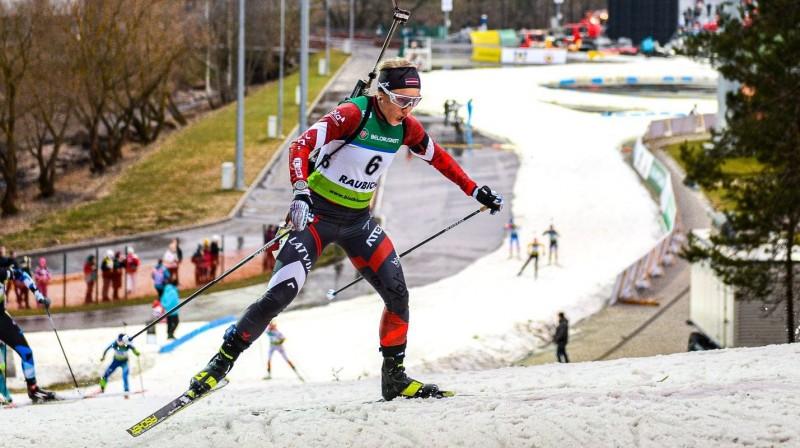 Baiba Bendika. Foto no Latvijas Biatlona federācijas Facebook profila