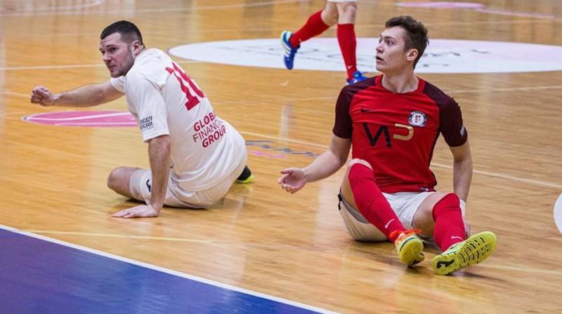Ričards Raščevskis un Miks Babris. Foto: A. Pupurāns, FC Petrow