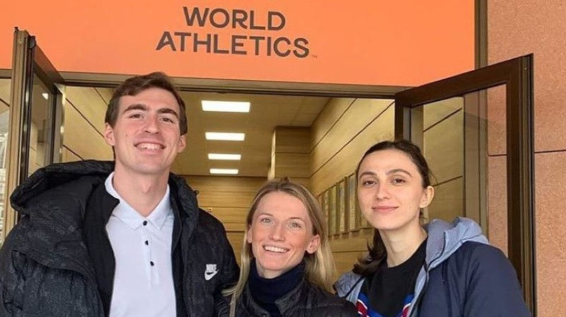Sergejs Šubenkovs, Anželika Sidorova, Marija Lasickene. Foto: sport-express.ru
