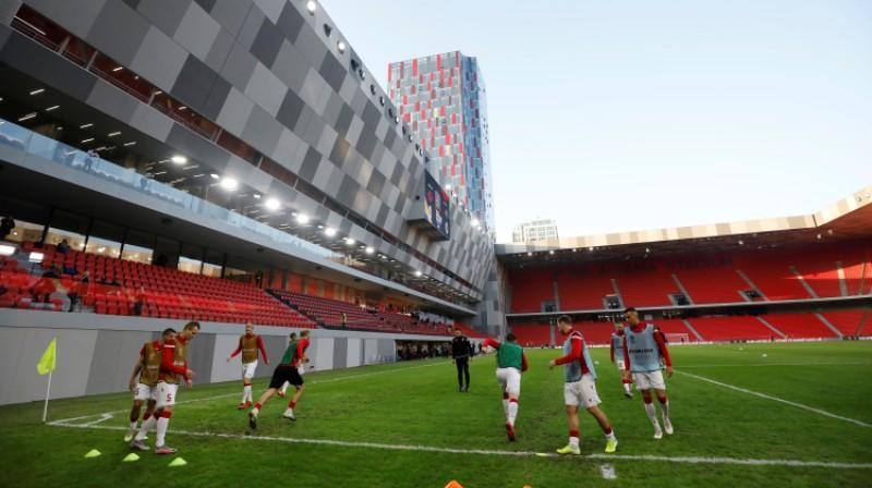 Tirānas jaunais stadions. Foto: Reuters/Scanpix