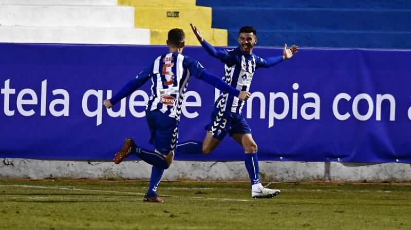 """Alcoyano"" futbolisti. Foto: AP/Scanpix"