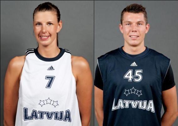 Gada basketbolisti: Zane Tamane un Dairis Bertāns
