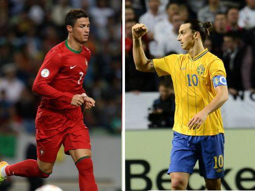 PK2014 pārspēles: Ronaldu sagaida Ibrahimoviču, ukraiņi uzņem Franciju