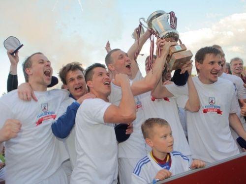 """""""Jelgava"""" pēcspēles sitienos pieveic """"Skonto"""" un iegūst Latvijas kausu"""