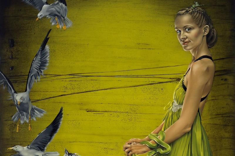 """Agates Apkalnes gleznu cikls """"Privātā telpa"""""""