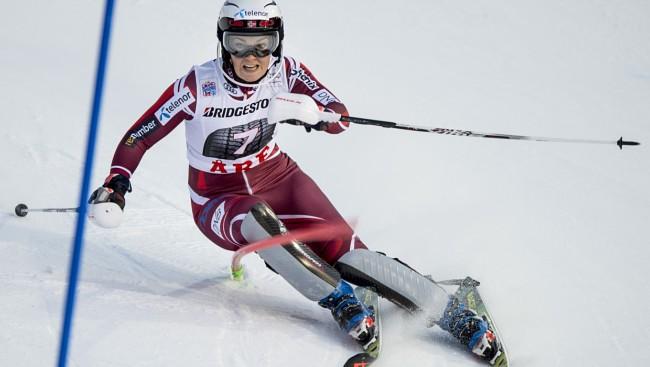 N.Lēsetai pirmā uzvara PK slalomā, L.Gasūnai 1.braucienā 48.rezultāts