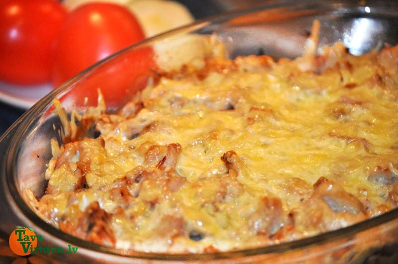Kartupeļu un gaļas sacepums