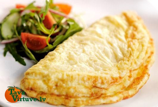 Valentīndienas omlete jeb svētku brokastis mīļotajai