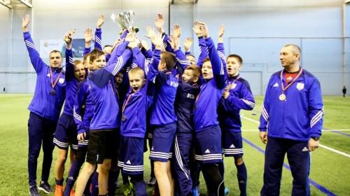 """""""Daugavpils"""" puiši iegūst LFF Ziemas kausu U-15 grupā"""