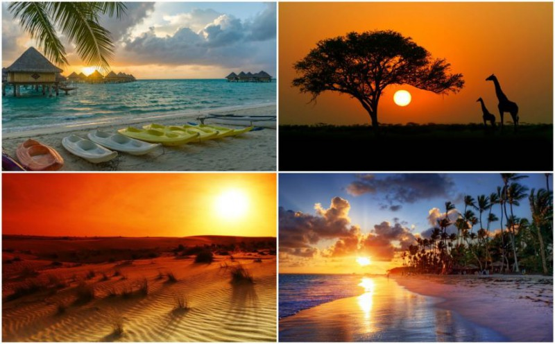 Vietas, kur var vērot iespaidīgus saulrietus