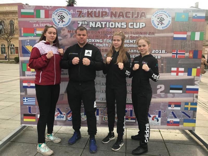 Latvijas izlases bokserēm trīs medaļas Serbijā