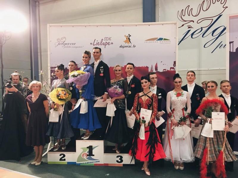 Pasaules ranga piecpadsmitnieka pāru cīņas Latvijas čempionātā Standartdejās Jelgavā