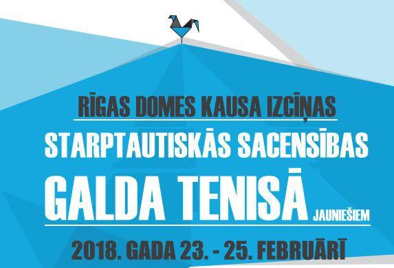 Notiks Rīgas domes kausa izcīņas starptautiskās sacensības galda tenisā