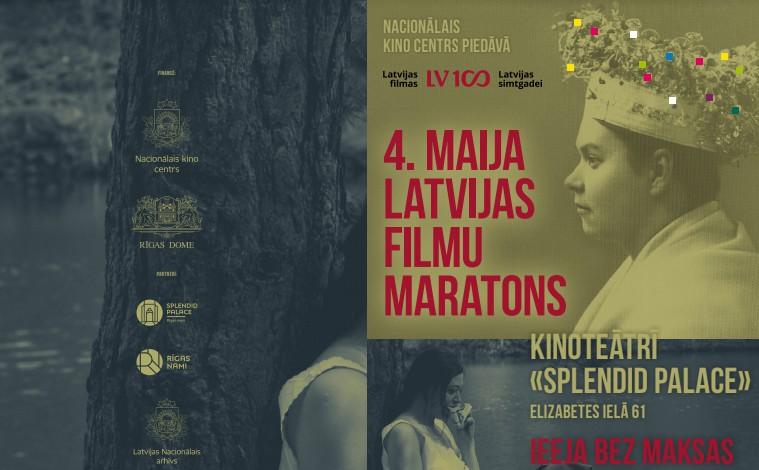 4. maijā Nacionālais kino centrs rīko tradicionālo Latvijas filmu maratonu