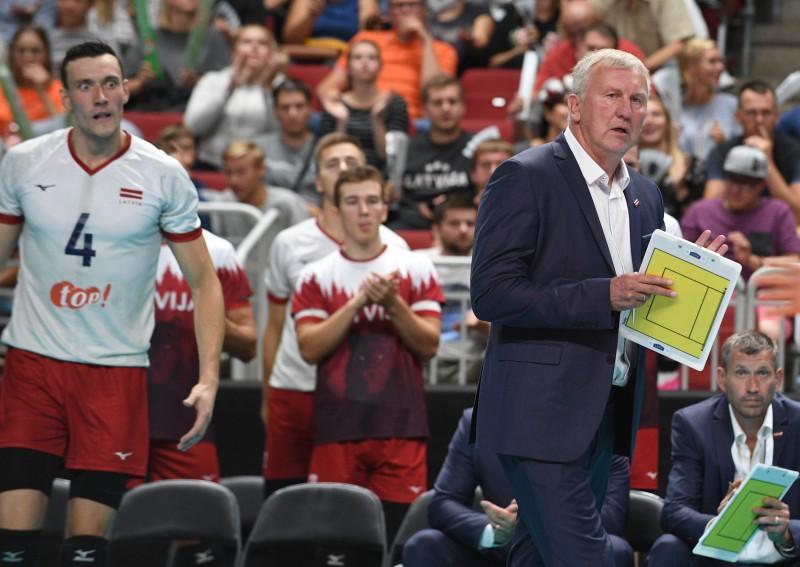 Volejbola izlase nākamgad spēlēs Eiropas Zelta līgā