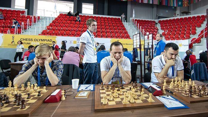 Abām Latvijas šaha izlasēm neizšķirti Olimpiādes cīņās