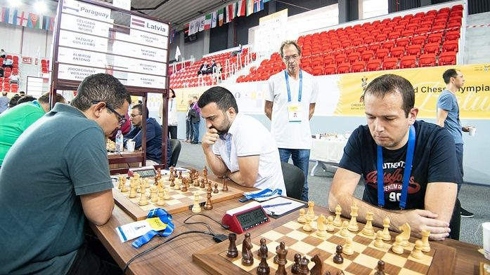 Vīru izlase sagrauj Irāku un panāk dāmas šaha Olimpiādes kopvērtējumā