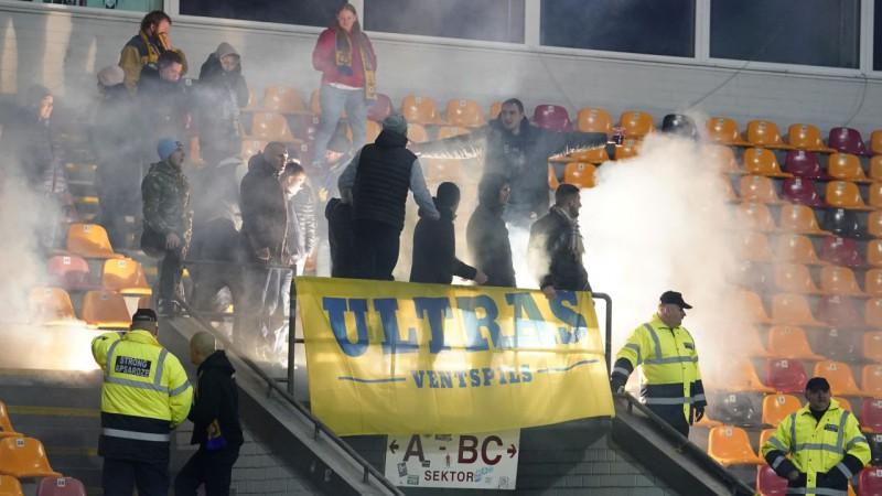 """""""Ventspils Ultras"""" aizdomīgu spēļu dēļ paziņo par komandas atbalsta pārtraukšanu"""