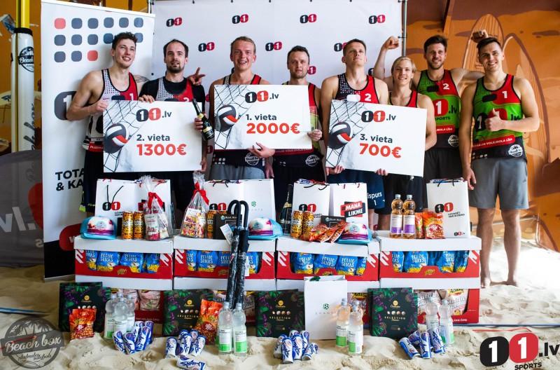 Par 11.lv pludmales volejbola līgas čempioniem kļūst Vilde un Ivanovs