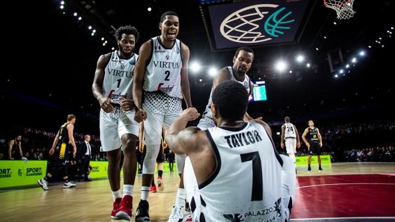 """Boloņas """"Virtus"""" vairāk nekā 16 tūkstoš skatītāju priekšā triumfē FIBA Čempionu līgā"""