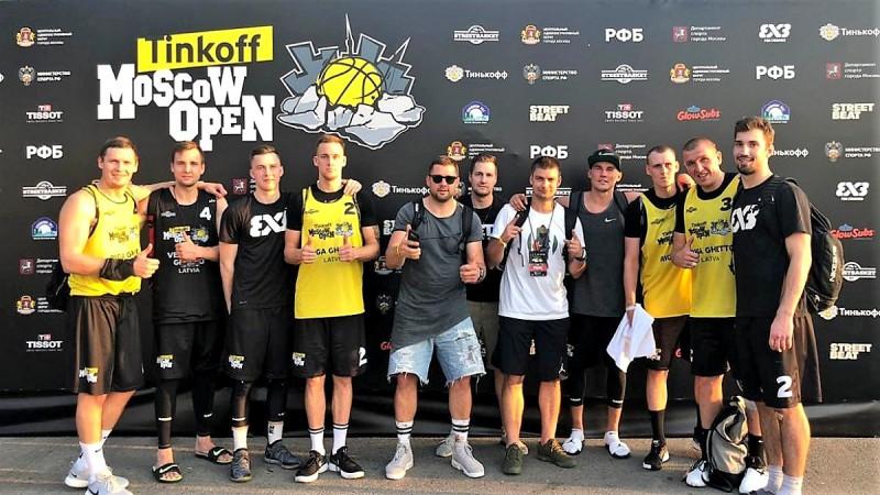 """Ventspils 3x3 komanda sasniedz pusfinālu """"Challenger"""" turnīrā Maskavā"""