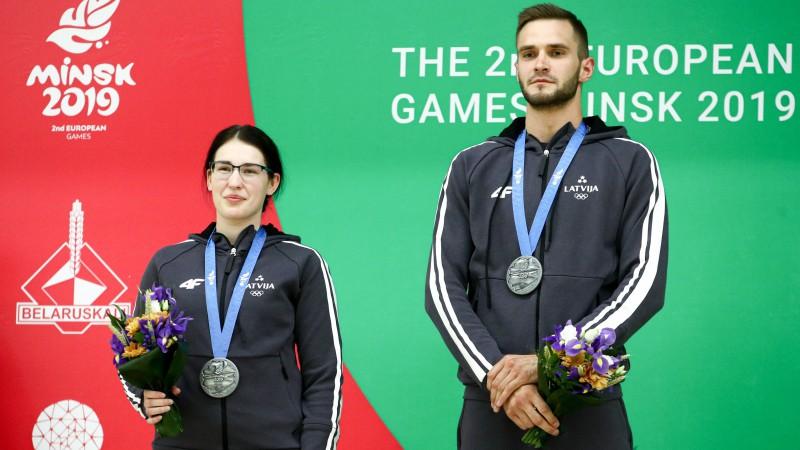 Strautmanis un Rašmane Eiropas spēļu maratonu noslēdz ar 15. vietu vēl vienās komandu sacensībās