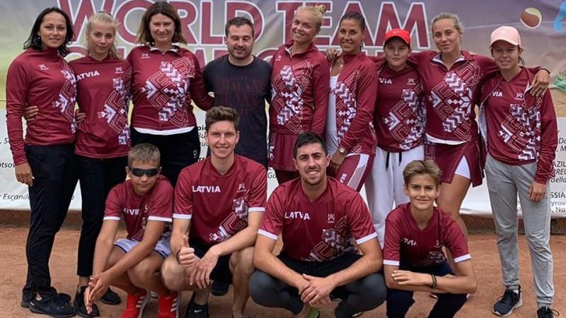 Latvijas izlasēm devītās vietas pasaules čempionātā pludmales tenisā