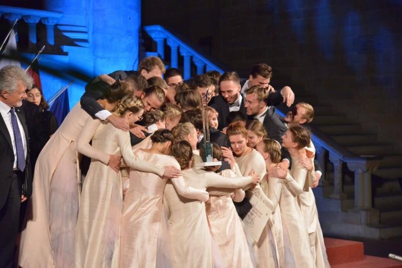 """Koris """"Kamēr…"""" ar trešo uzvaru Eiropas Grand Prix ieraksta vārdu kormūzikas vēsturē"""