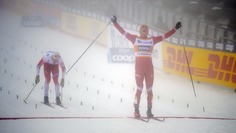 Boļšunovs finiša spurtā apsteidz Krīgeru un uzvar 50 km klasikā miglainajā Oslo