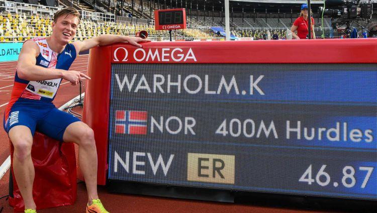 Dimanta līgā norvēģu skrējēja Varholma šovs, jauns Eiropas rekords