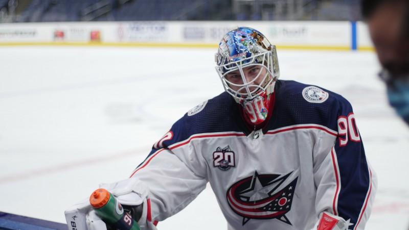 Merzļikins: ''Iespējams, sākumā nerespektēju faktu, ka šeit spēlē pasaulē labākie hokejisti''