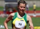 Agnese Pastare izpilda Olimpisko kvalifikācijas normatīvu soļošanā