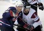 Latvija pret ASV pasaules čempionātos