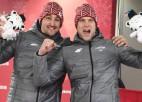 Karjeru beiguši divi bobsleja stūmēji – olimpiskais čempions Strenga un Lūsis