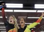 Sieviešu bobslejā triumfē vācietes, divkārtējai čempionei Hamfrīzai bronza