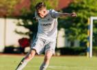 Aivaram Emsim pirmais vārtu guvums Lietuvas meistarsacīkstēs futbolā