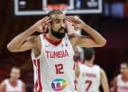 """Trim spēlētājiem """"double-double"""", Tunisija sagrauj Filipīnu olimpiskās cerības"""