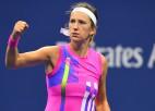"""Azarenka pirmoreiz """"Grand Slam"""" turnīrā uzvar Viljamsu, finālā tiksies ar Osaku"""
