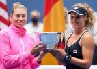 """""""US Open"""" dubultspēļu turnīrā uzvar pirmoreiz kopā spēlējušās Zīgemunda un Zvonarjova"""