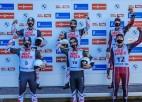 Latvijai divas bronzas Nāciju kausā kamaniņu sportā
