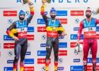 Aparjods un Latvijas stafetes komanda izcīna trešās vietas Altenbergā
