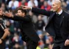 """Titula kārotāju cīņa: Madrides """"Real"""" pret """"Atletico"""", Zidāns pret Simeoni"""