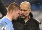 """""""Manchester City"""" līderis De Breine nespēlēs vismaz mēnesi un izlaidīs svarīgas kaujas"""