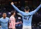 """""""Manchester City"""" uzvar un palielina pārsvaru; """"Newcastle"""" pārtrauc neveiksmju sēriju"""