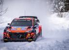 Tanaks uzvar Igaunijas ziemas rallijā, Grjazinam smags negadījums