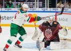 """Rīgas """"Dinamo"""" divreiz nenotur vadību, piedzīvojot devīto zaudējumu pēc kārtas"""
