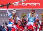 Šveice pagaidām bagātākā ar medaļām, Austrijai visvairāk zelta PČ kalnu slēpošanā