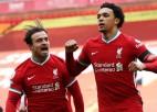 """""""Liverpool"""" izskaņā izrauj uzvaru un pārtrauc melno sēriju savā laukumā"""
