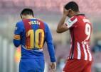 """""""Barcelona"""" un """"Atletico"""" izspēlē neizšķirtu Madrides """"Real"""" labā"""